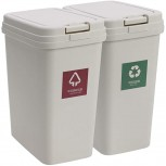 Household Kitchen Bathroom Toilet and Office with lid and pop lid Sorting Trash bin-2 Packs Office Products B08HCF1Y9N