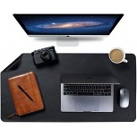 Knodel Dual-Sided Desk Mat Desk Pad Upgrade Sewing PU Leather Desk Blotter Protector Mouse Pad Writing Mat for Office and Home 35.4 x 17 Black Office Products B07W8V7YNG