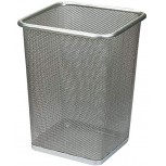 LQ&XL Mesh Wastebasket Office Trash Can Recycling Bin Mesh Metal Trash Bin Cage for Office Bedroom and is Lightweight Sturdy and Collects Rubbish Silver Small Office Products B08BTTYCQV