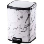 MYBA Trash Can Rectangular Bathroom Step Trash Can Soft-Close Garbage Can,Removable Inner Wastebasket for Bathroom Bedroom Office Garbage Can Color D Size 7l Office Products B08HY42PMQ