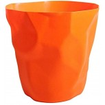 Modern Trash Can ABS Plastic Lidless Wastebasket Paper Basket Trash Can Dustbin Garbage Bin for Kitchen Bathroom Office Waste Bin Color Orange Size Small Office Products B0822HY2B5