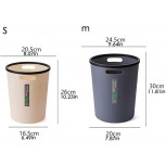 Trash Can Wastebasket Round Plastic Small Trash Can Wastebasket Garbage Container Bin for Bathrooms Powder Rooms Kitchens Home Offices Kids Rooms Waste Container Color Yellow Size S Office Products B08HCV8TF5