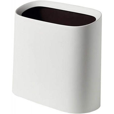 Trash Cans Office Toilets Wastebasket Mini Easy to Clean Creative Waste Bin Bathroom Garbage Can Dustbin Without Lid 313315.5CM Suitable for Different Places Color White Size 313315.5CM Office Products B08K3CHPLW