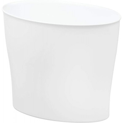 iDesign InterDesign Wastebasket Trash Bathroom Bedroom or Office – White Nuvo Waste Can Office Products B073XSF1HN