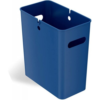- iTouchless SlimGiant 4.2 Gallon 13.4 High Narrow Space Slim Trash Can with Handles 16 Liter Plastic Small Wastebasket Garbage Bin Storage Container for Home Office Bathroom Kitchen Blue - B08CJD2K6X