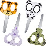 4 Pieces Kids Craft Scissors Animal Design Scissors Multipurpose Office Scissors for Sewing Crafting DIY Projects Cutting Paper B08761Z3JT
