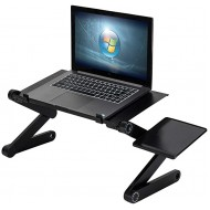 Adjustable Laptop Stand Multi-Angle with Cooling Fans & Mouse Pad Side Foldable Portable Home Use Executive Office Assembled Folding Table for Desk Bed PC MacBook Office Products B08H227F6V