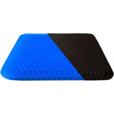 Gel Seat Cushion for Long Sitting Double Thick Egg Seat Cushion with Non-Slip Cover Breathable Honeycomb Home Office Chair Pads Wheelchair Cushion for Relieving Back Pain & Sciatica Pain Blue Office Products B08DNH5BFR