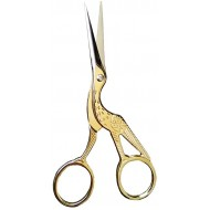 Home Scissors Gold 3.5 inch Vintage Stork Sewing Scissors Small Embroidery Sharp for Crafting Threading Detail Decorative Scissors Steel for Office BROSHAN Office Products B06ZZN8WXM