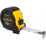 Komelon SM5416 Speed Mark Gripper Acrylic Coated Steel Blade Tape Measure 16-feet by 1-Inch White Blade - Tape Reels - B008AGWNL0