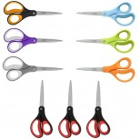 LIVINGO Scissors 8 Multipurpose Scissors for Office Fabric Scissors Sewing Scissors Sturdy Sharp Shears for Craft DIY Titanium Coated Blades Comfort Soft Grip Office Products B08CZ89NCQ