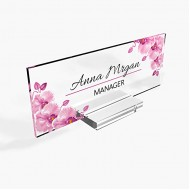 Personalized Desk Name Plate for Office Sign Modern Office Women Decor Executive Desk Name Plate Desk Name Sign Holder - 8x3 - Orchid Office Products B08GS5BGFZ